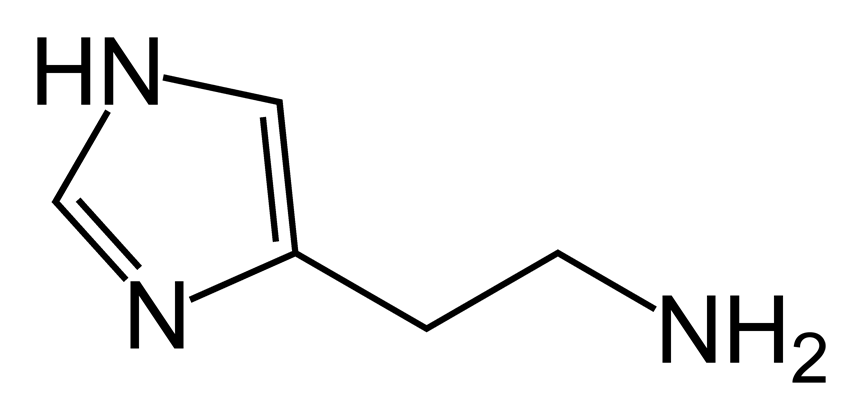 Strukturformel Histamin